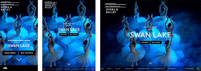 オランダ国立バレエ団のサイトキャプチャ